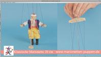 Wie die Wie die Marionette zu verwalten, holz 20cm