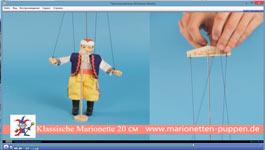 Wie die Marionette zu verwalten, holz 20cm