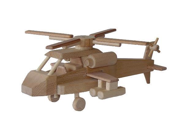 helikopter aus massivem holz tschechische holzspielzeug. Black Bedroom Furniture Sets. Home Design Ideas