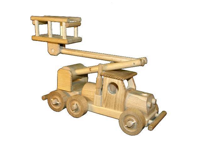 Auto mit Plattform, Holzspielzeug