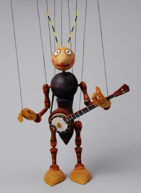 Banjo musikant ,  marionette puppe