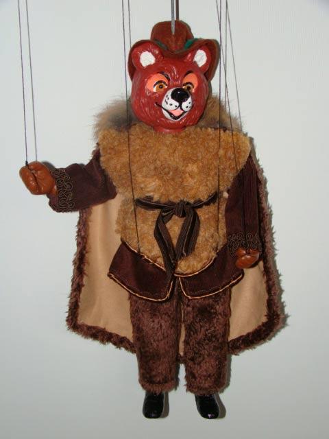 Braunbär , marionette puppe