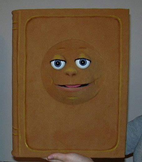 Buch marionette Bauchredners