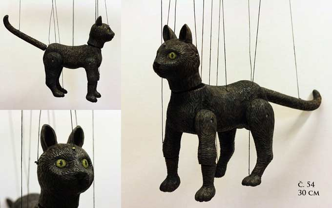 Kater marionette puppe
