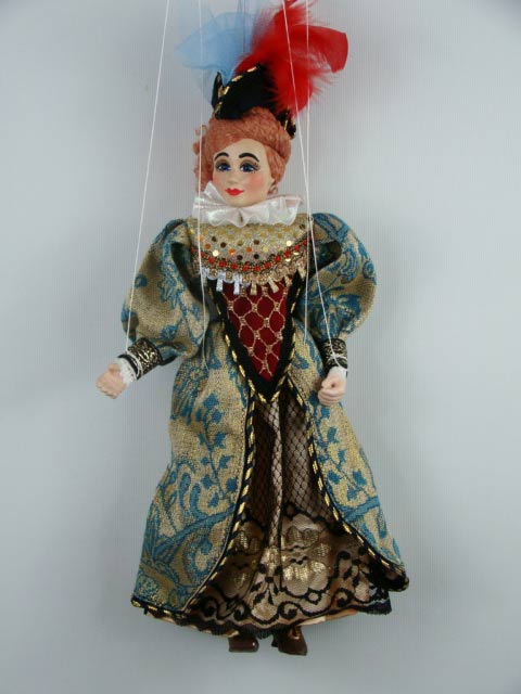 Dame , marionette puppe