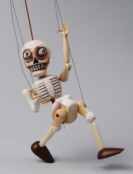 Skelett Holzmarionette