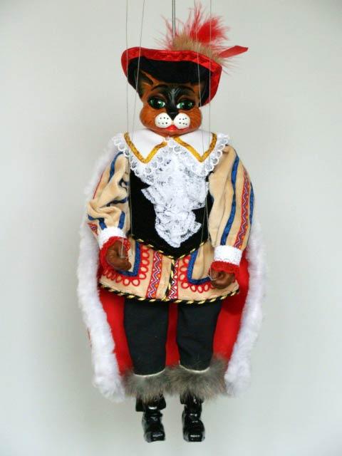 Der gestiefelte Kater , marionette puppe