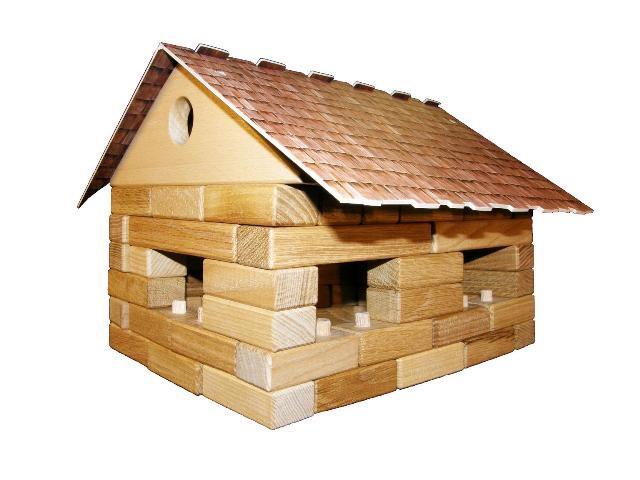 Doppelhaus, Holzspielzeug