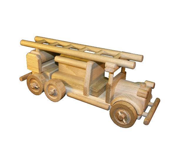 Feuerwehrauto, Holzspielzeug
