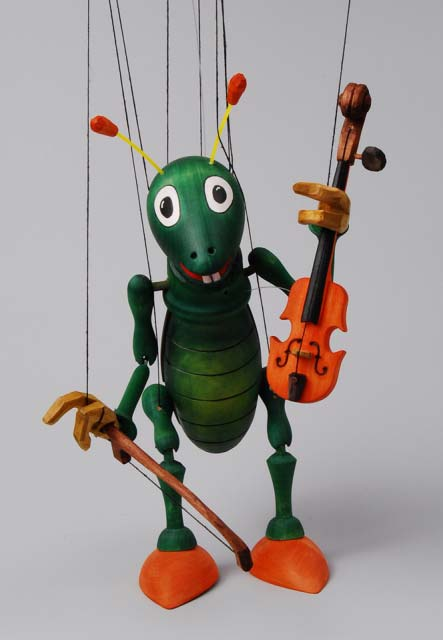 Geiger musikant ,  marionette puppe