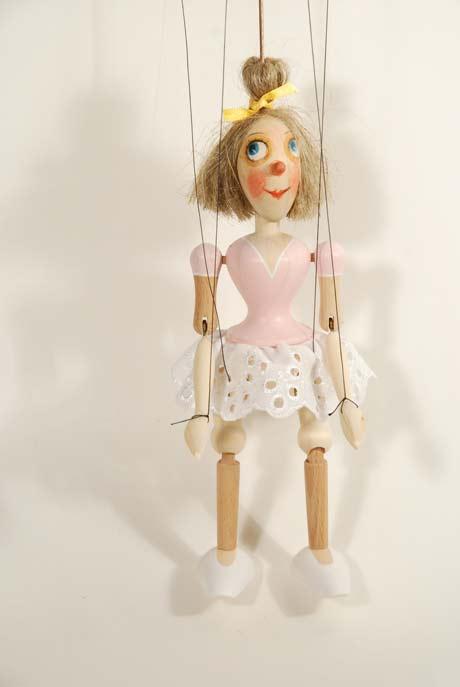Mädchen Holzmarionette