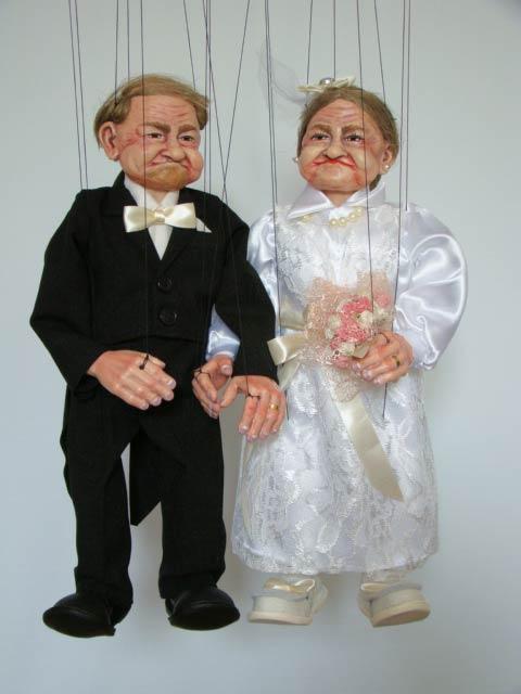 Brautpaar marionetten