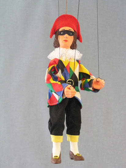 Harlekin , marionette puppe
