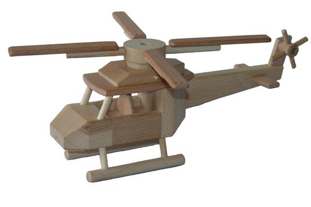 Helikopter, Holzspielzeug