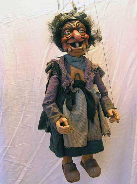 Hexe , marionette puppe