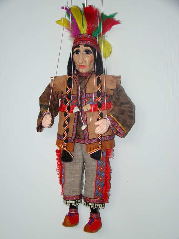 Indianer marionette