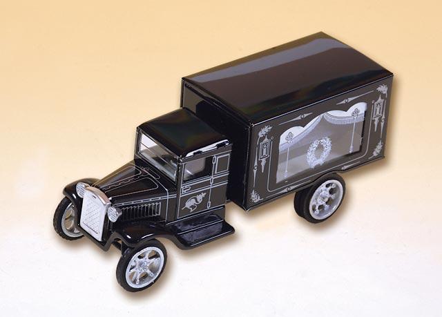 Leichenwagen mit Holzsarg blechspielware
