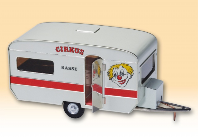 Zirkus-Wohnwagen blechspielware