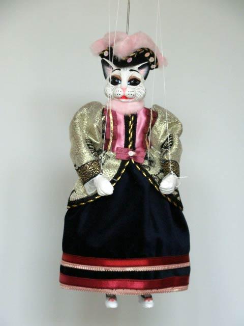 Katze , marionette puppe