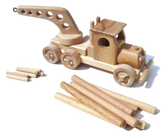 Mobilkran Holzspielzeug