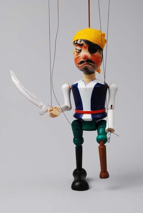 Pirat Holzmarionette