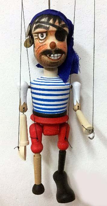 Pirat ,  Holzmarionette
