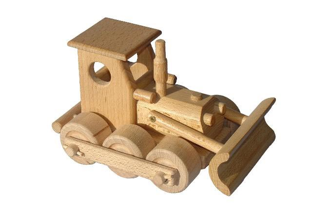 Planierraupe Holzspielzeug