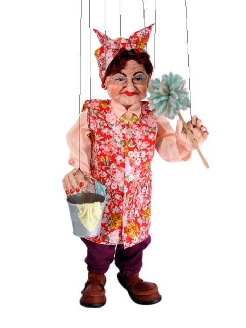 Putzfrau Rose marionette