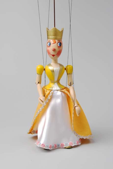 Königin Holzmarionette
