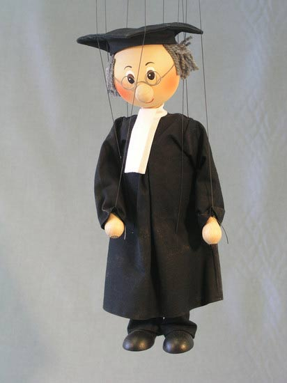 Rechtsanwalt,  marionette puppe