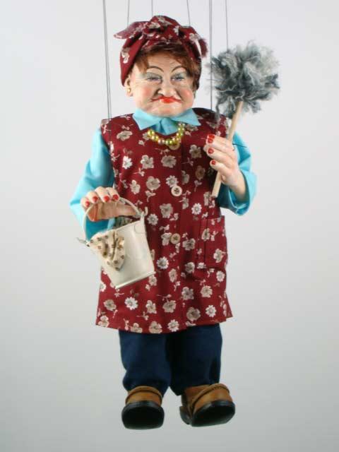 Putzfrau marionette