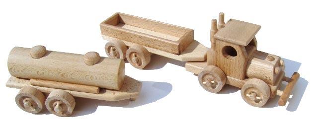 Schlepper Holzspielzeug
