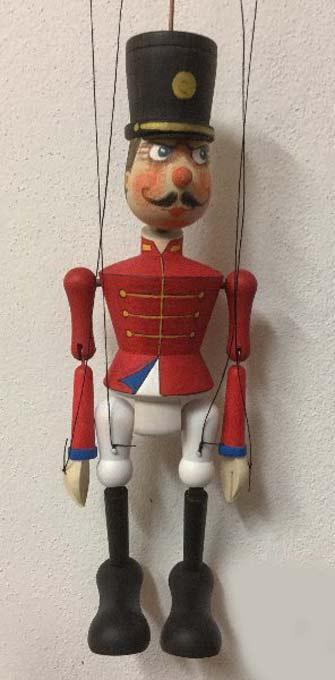 Soldat Holzmarionette