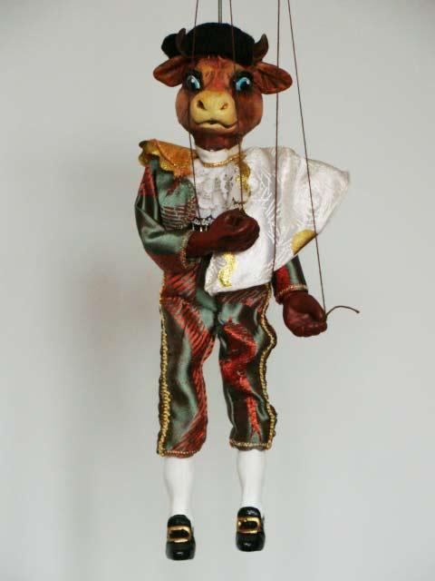 Stier Torero marionette