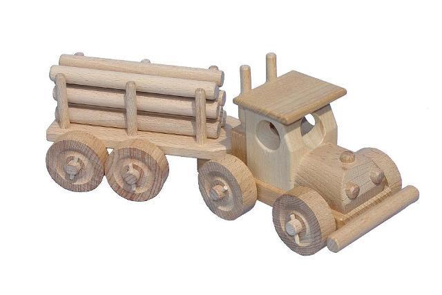 TIR mit Logs Holzspielzeug
