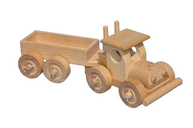 TIR mit Rumpf Holzspielzeug