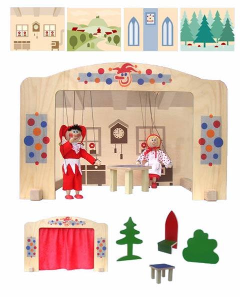 Holz Puppentheater Häuslich