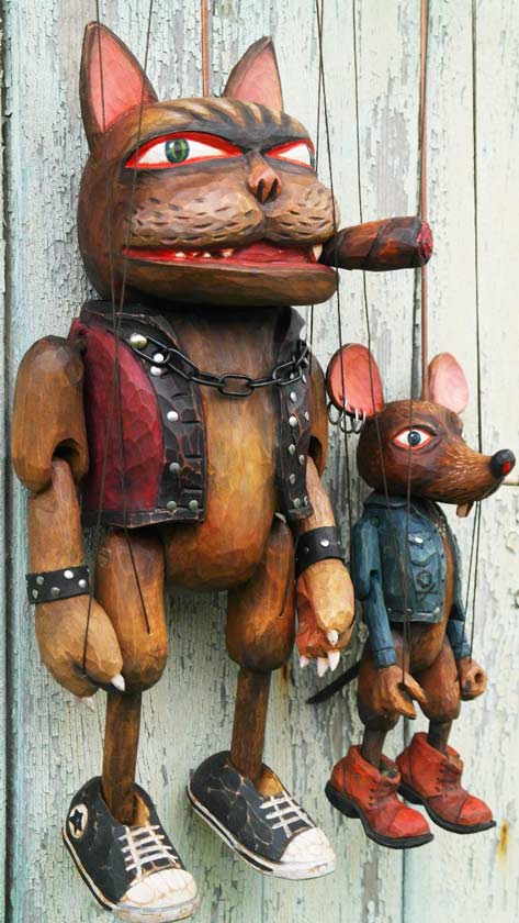 Tom & Jerry Holz marionetten