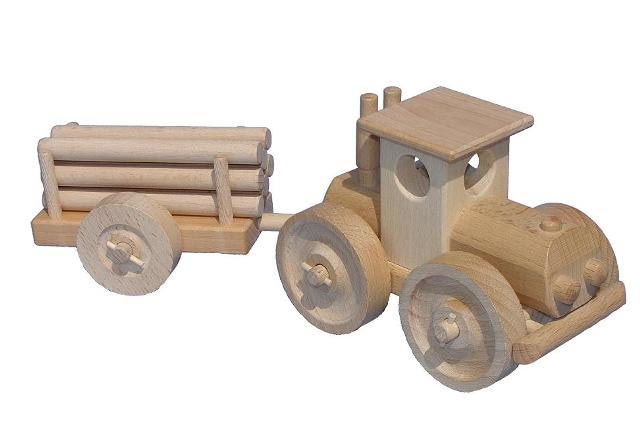 Traktor Holzspielzeug