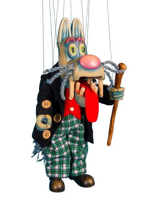 Wolf marionette