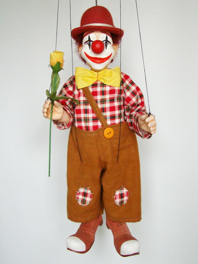 Clown marionette puppe