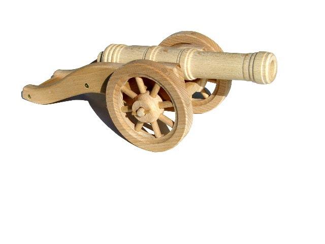Feld Kanone gewichtig, Holzspielzeug