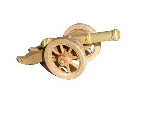 Feld Kanone licht, Holzspielzeug