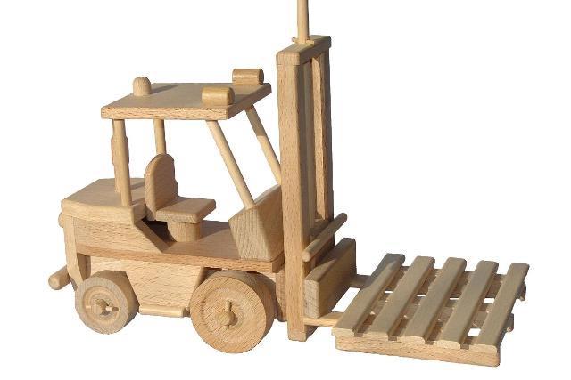 Gabelstapler Lore Holzspielzeug