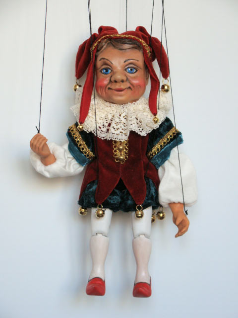Narr marionette puppe