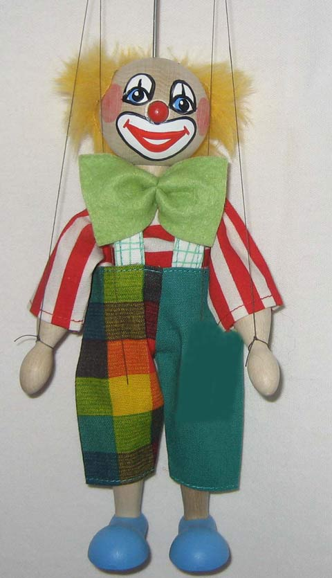 Clown , marionette puppe
