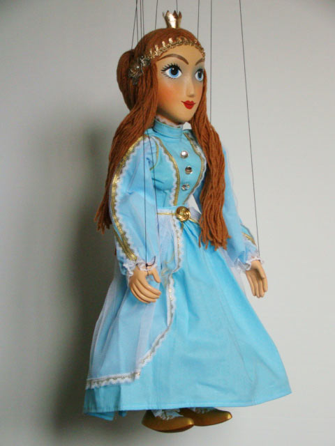 Prinzessin Holzmarionette