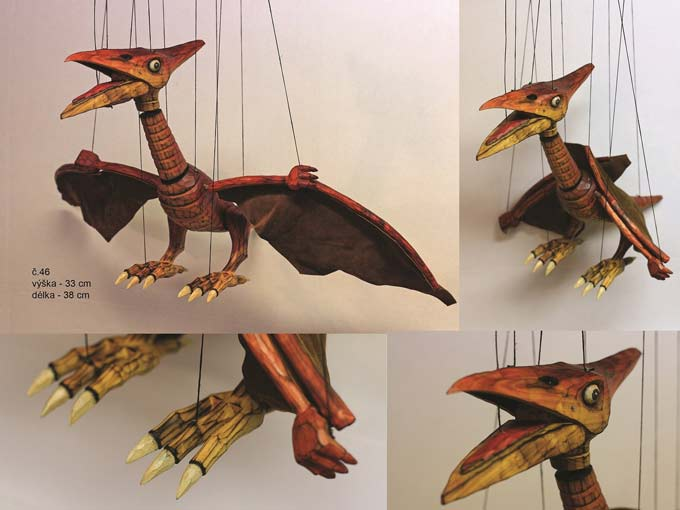 Pterodactyl marionette