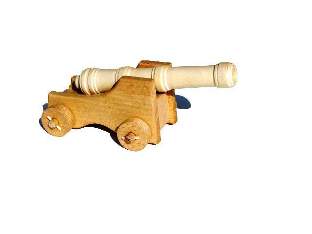Schiff Kanone Holzspielzeug
