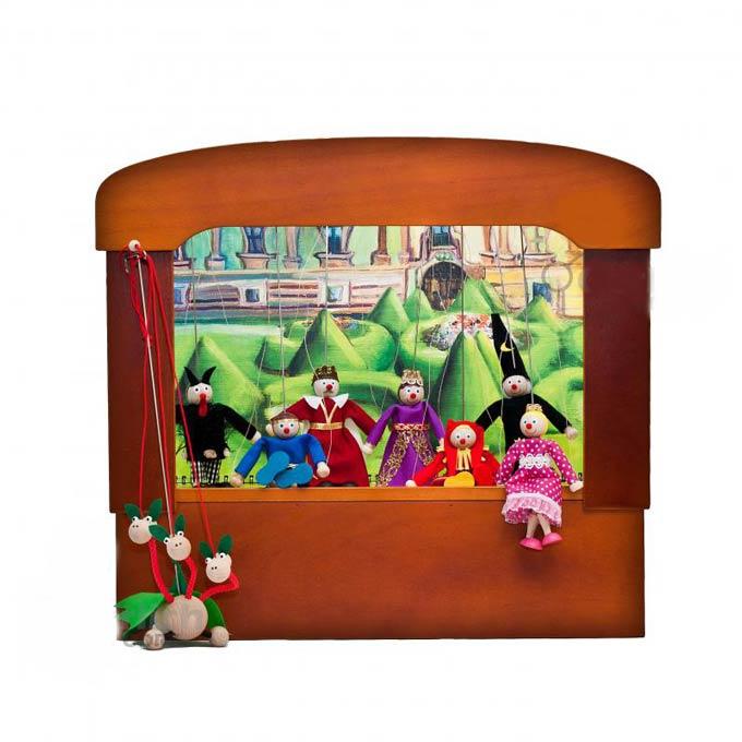 Nostalgisch Familien Puppentheater